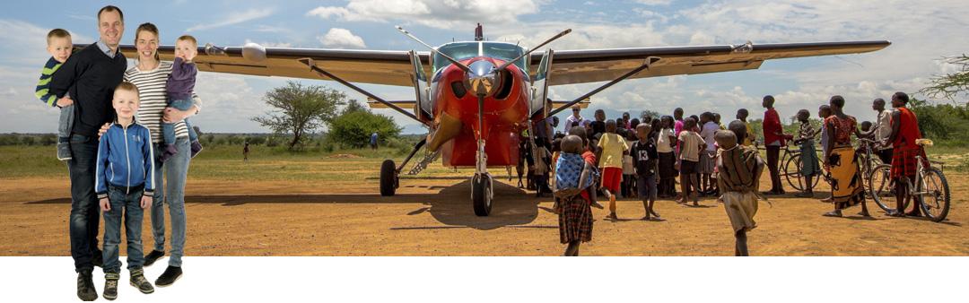 Pilotfamilie på vej – til  Madagaskar